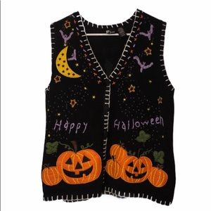 """Ugly"" Halloween sweater vest size large"